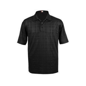 Redwear Jared Men's Embossed Polo Shirt w/ Bold Geometric Lines